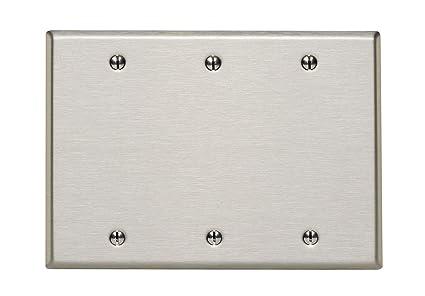 Leviton 84033 40 3 Gang No Device Blank Wallplate Box Mount