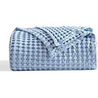 Bedsure Waffle Cotton Blanket Bamboo - Waffle Weave Blanket King Size, Soft Lightweight Bed Blanket for All Season…