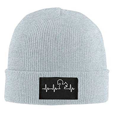 23b380139a4 Winter Squirrel Heartbeat Beanie Hat  Amazon.co.uk  Clothing