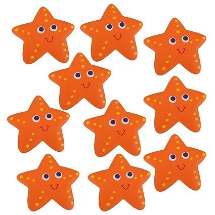 Baoblaze 10 Unidades Pegatinas Adhesivas Antideslizante de Estrellas de Mar para Seguridad de Ducha Baño,