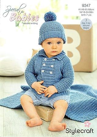 Stylecraft 9347 Strickmuster Baby Jungen Jacke Mütze und Decke in ...