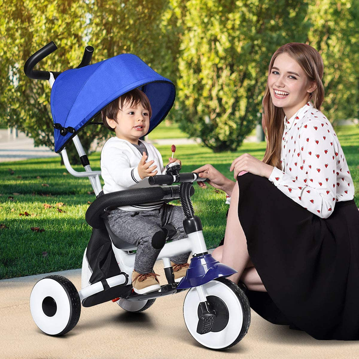 Amazon.com: BABY JOY 4 en 1 niños triciclo plegable bebé ...