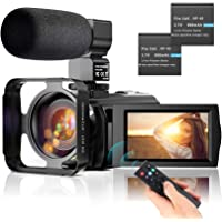 """Video Camera Camcorder YouTube Vlogging Camera FHD 1080P 30FPS 24MP 16X Digital Zoom 3"""" LCD 270 Degrees Rotatable LCD…"""