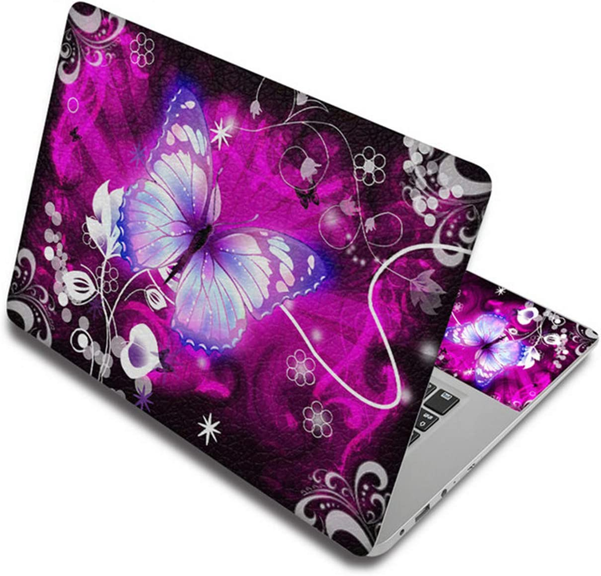 "Butterfly Vinyl Stickers Laptop Skin Decals 11.6"" 12"" 13.3"" 15"" 14"" 15.6"" 17"" Computer Sticker for Lenovo/hp/MacBook air/xiao mi-Laptop Skin 2-Custom Other Size"