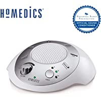 HoMedics SS2000J3PK-CA Sound Spa Relaxation Sound Machine with 6 Nature Sounds, Silver