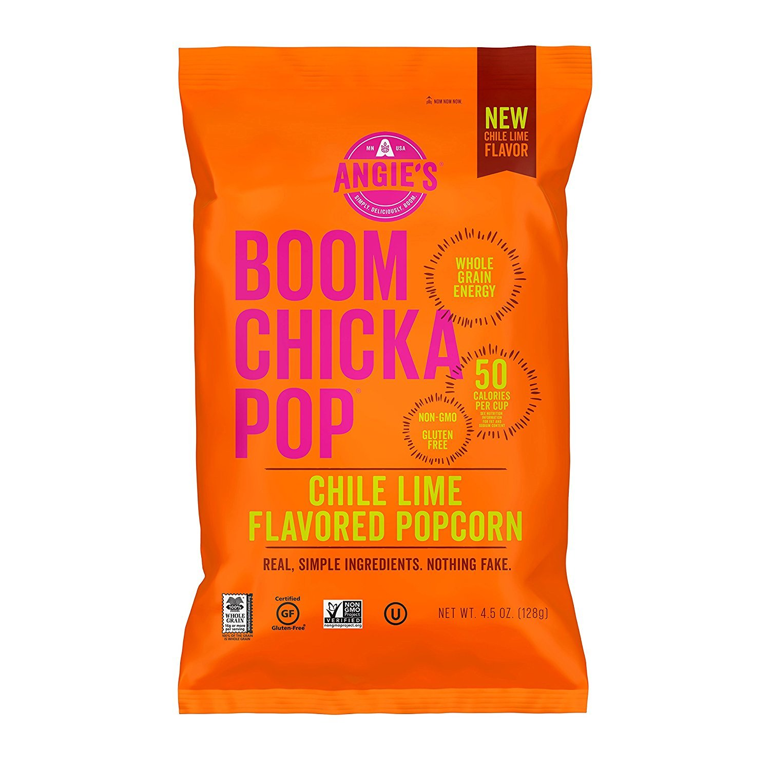 Angie's Kettle Corn Popcorn - Boom Chicka Pop - Chile Lime - Case Of 12 - 4.5 Oz