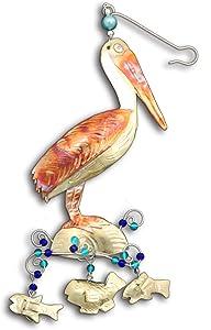 Pilgrim Imports Pelican On The Beach Ornament - Fair Trade