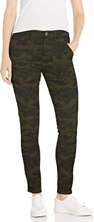 Daily Ritual Amazon Brand Women's Stretch Twill High-Rise Ankle-Zip Utility Pant