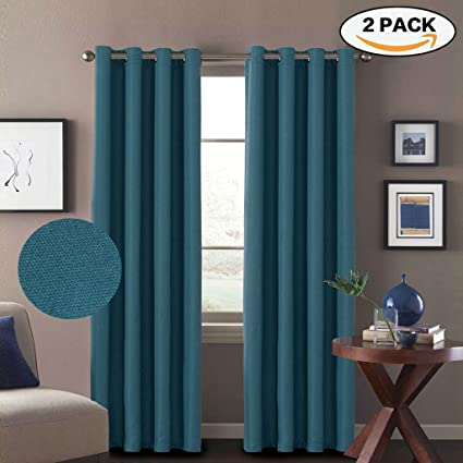 HVERSAILTEX 2 Panels Primitive Linen Look Room Darkening Thermal Insulated Living Curtains