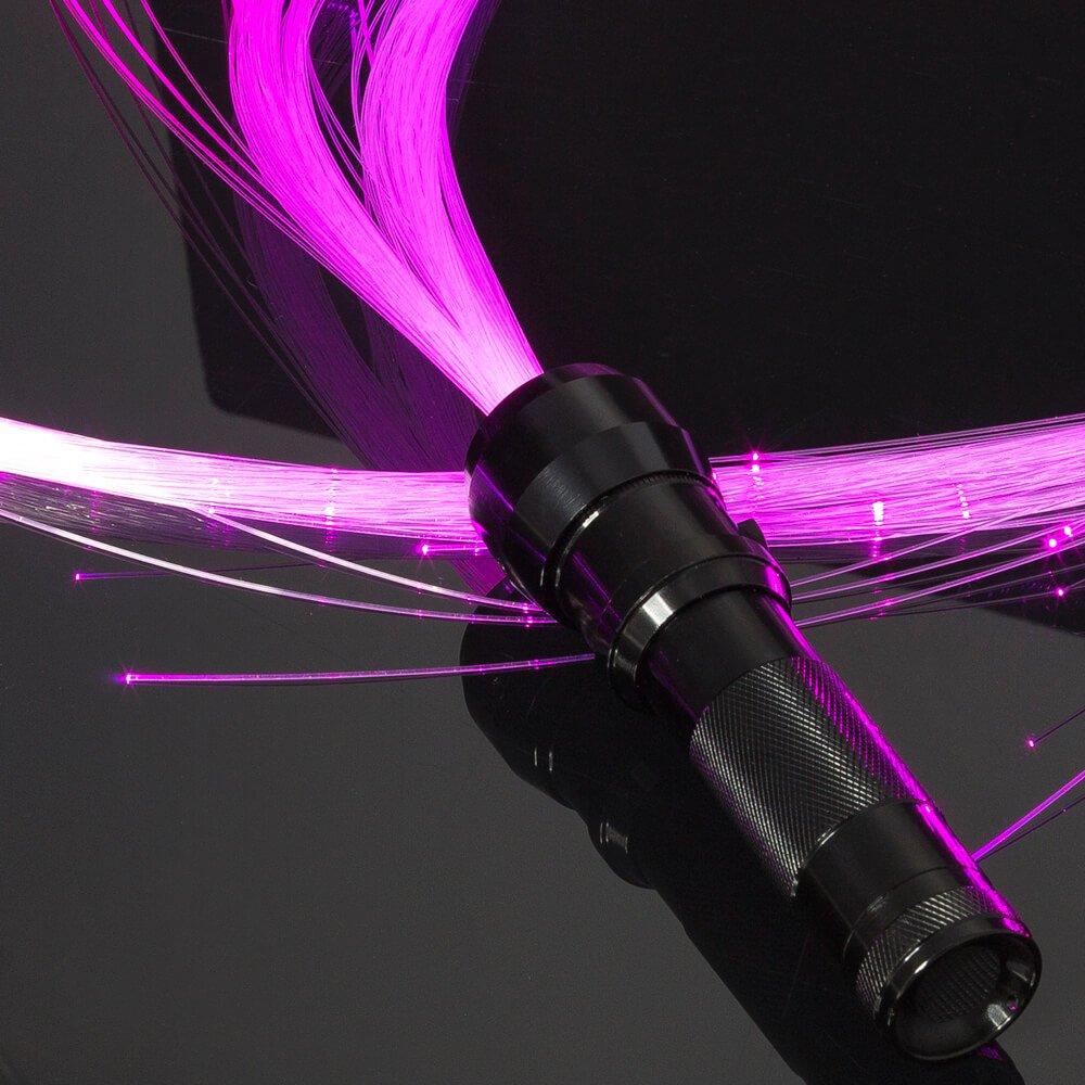 GloFX Space Whip Pro [PROGRAMMABLE LED Fiber Optic Whip] 6 Ft 360° Swivel - Super Bright Light Up Rave Toy | EDM Pixel Flow Lace Dance Festival by GloFX (Image #3)