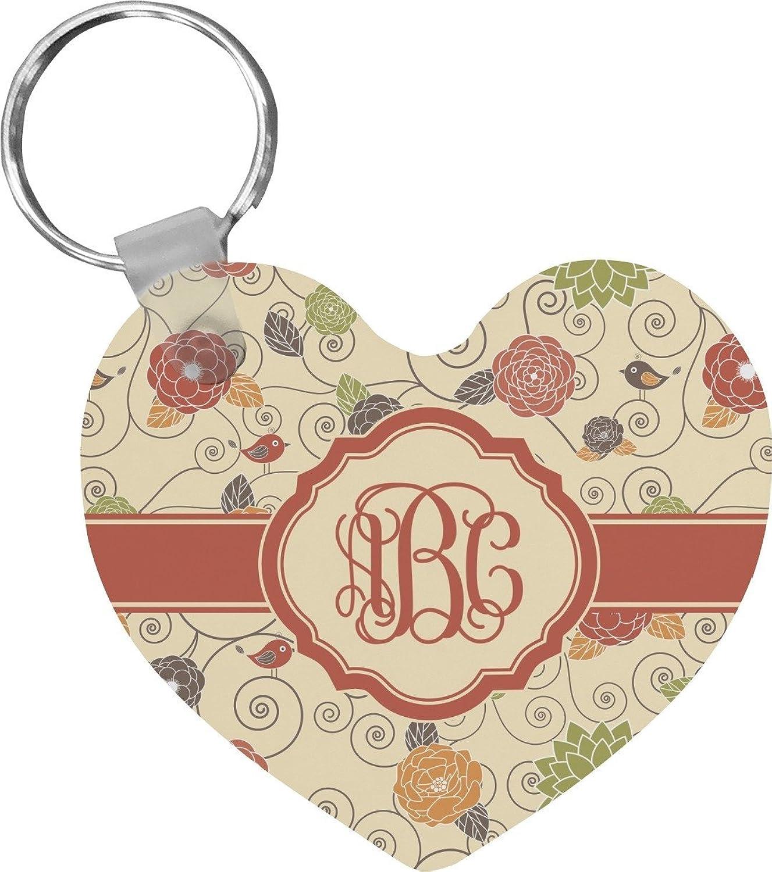 Fall Flowers Heart Keychain (Personalized)