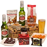Hot Stuff Beer Gift For Him - Beer Hamper & Spicy Treats Presented In A Smart Gift Box