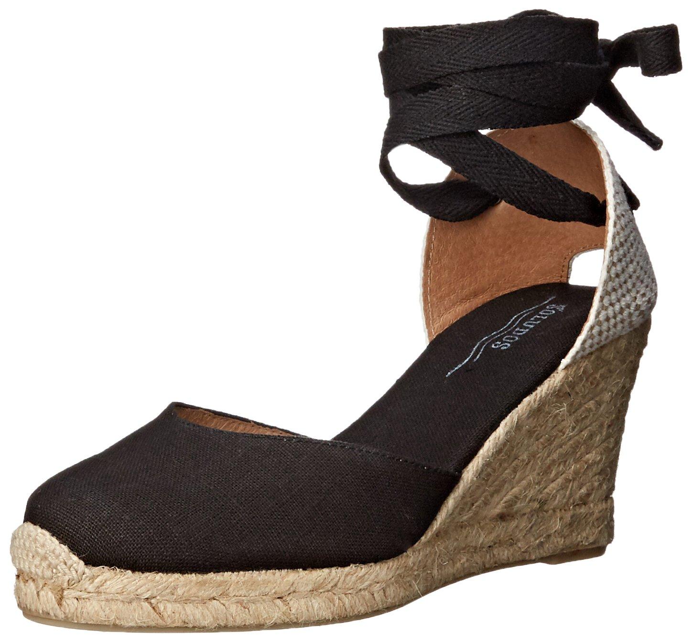 Soludos Women's Tall (90mm) Wedge Sandal B016ZQ5BN8 6 B(M) US|Black