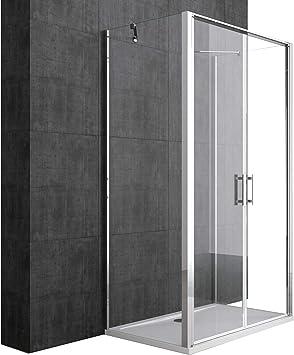 Mampara 80 x 120 cabinas de ducha ravenna50 K Marco de Aluminio ...