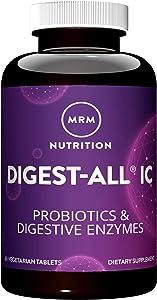 MRM Digest-All IC - Probiotic & Digestive Enzymes – 60 Vegetarian Capsules