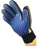 ペット ブラシ 手袋 グローブ 犬と猫に使える お手入れ 抜け毛 ペット用ブラシ (Blue)