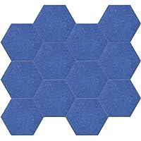Tomshin 12pcs 14 * 13 * 0.4in Painéis acústicos Projeto hexagonal Fibra de poliéster Material de isolamento acústico e…