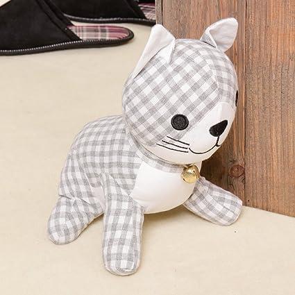 Novedad) tela – tope para puerta, diseño de gatos diseño de algodón/lino