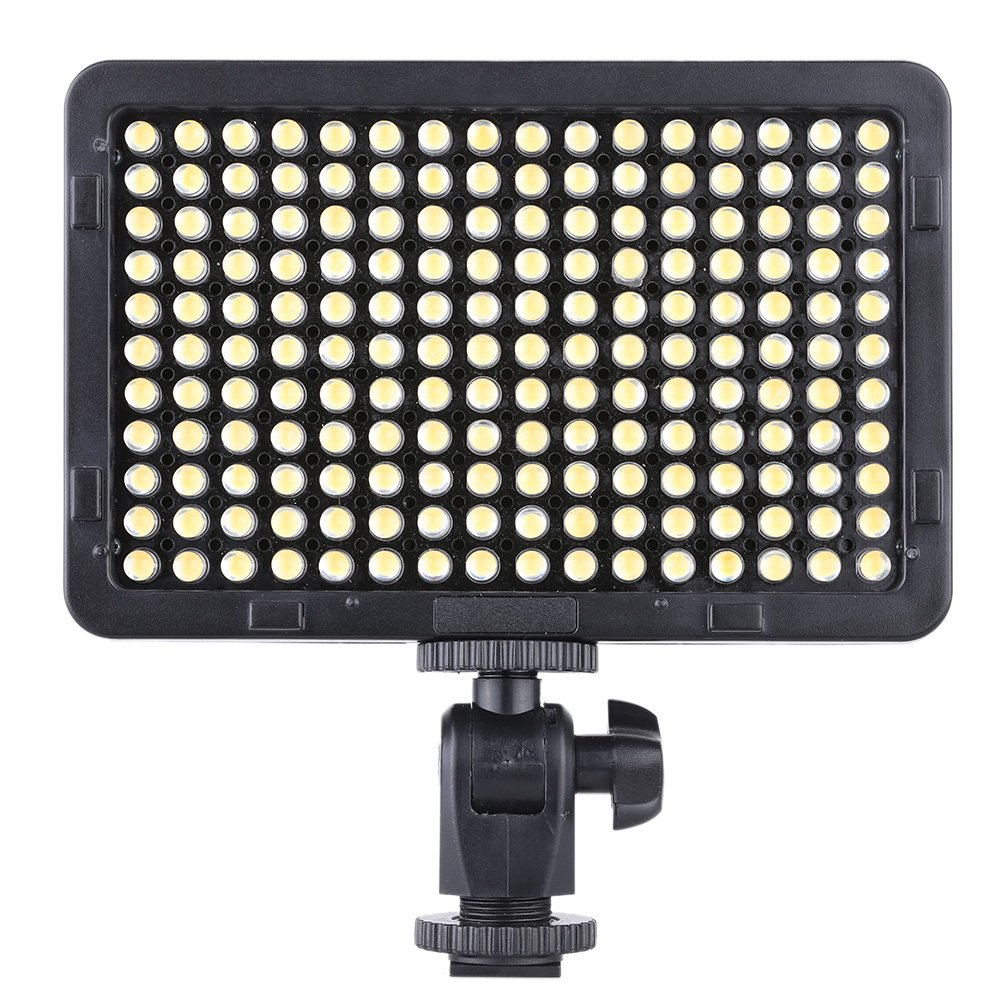 Andoer 176 Pcs LEDs Portable Video Studio Photography Light Panel 5600K for Cannon Nikon Pentax Olympus Camcorder DSLR Camera 4332006153