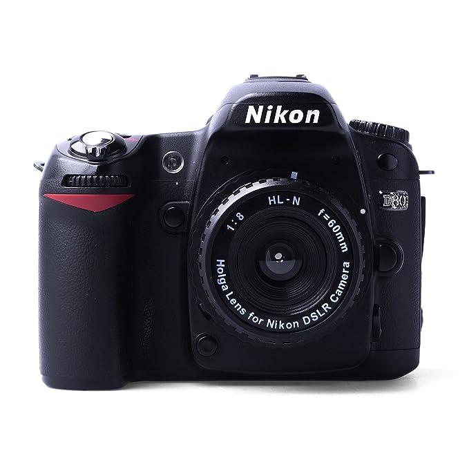 Holga - Objetivo para cámara réflex digital Nikon (60 mm, f/8 ...