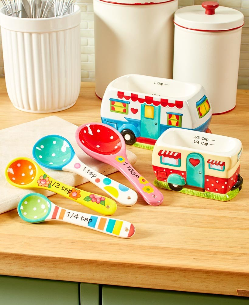 Happy Camper 6-Pc. Kitchen Accent Measuring Set