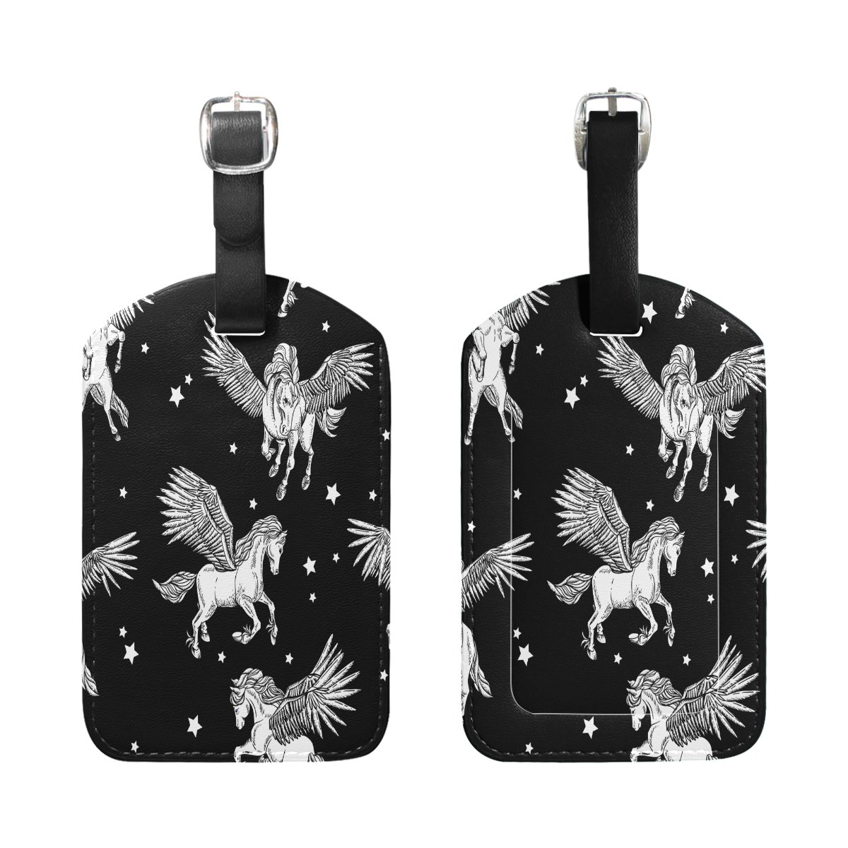 Saobao Travel Luggage Tag Winged Pegasus PU Leather Baggage Suitcase Travel ID Bag Tag 1Pcs