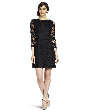 744e811d396 Nicole Miller Women s Floral Mesh Long Sleeve Dress