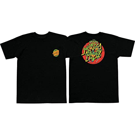 dfed35f5 Image Unavailable. Image not available for. Color: Santa Cruz Skateboards TMNT  Turtle Power Black Men's Short Sleeve T-Shirt ...