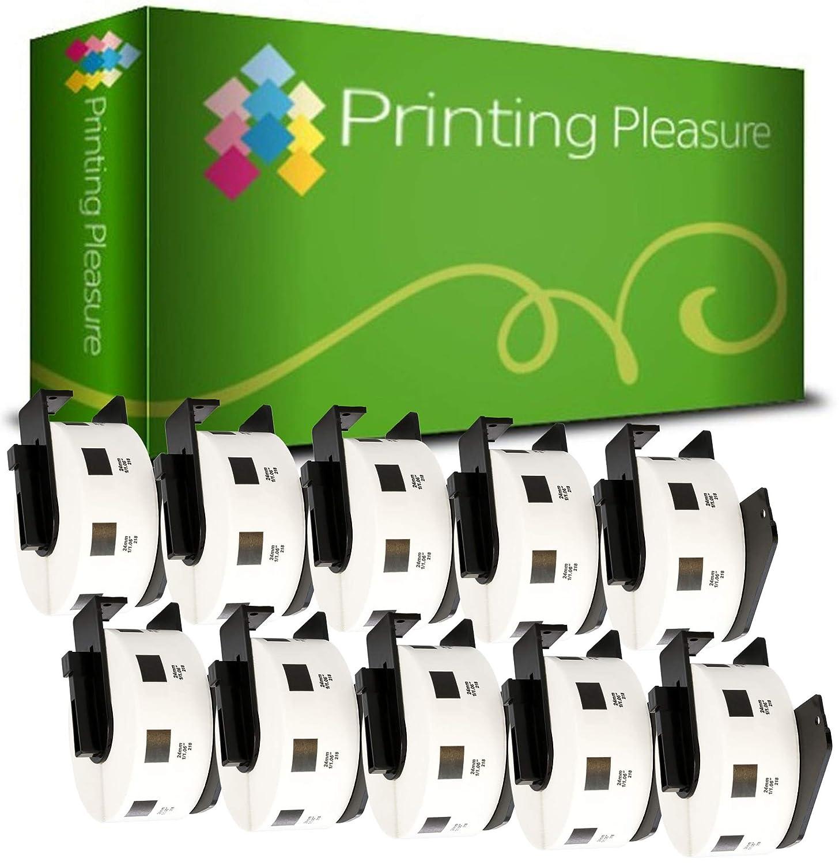 62mm x 100mm Thermal Paper Roll 300 Labels per Roll Printing Pleasure 2 x DK11202 Address Labels compatible with Brother P-Touch QL-500 QL-570 QL-700 QL-720 QL-800 QL-810 QL-820 QL-1100 QL-1110