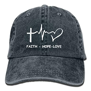 Faith Hope Love Christian Ajustable Hip Hop Algodón Lavado Denim ...