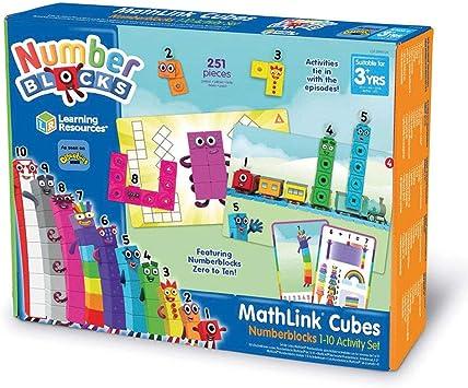 christmas 3 with magazines gift Numberblocks Cbeebies 1-20 toys Number Blocks