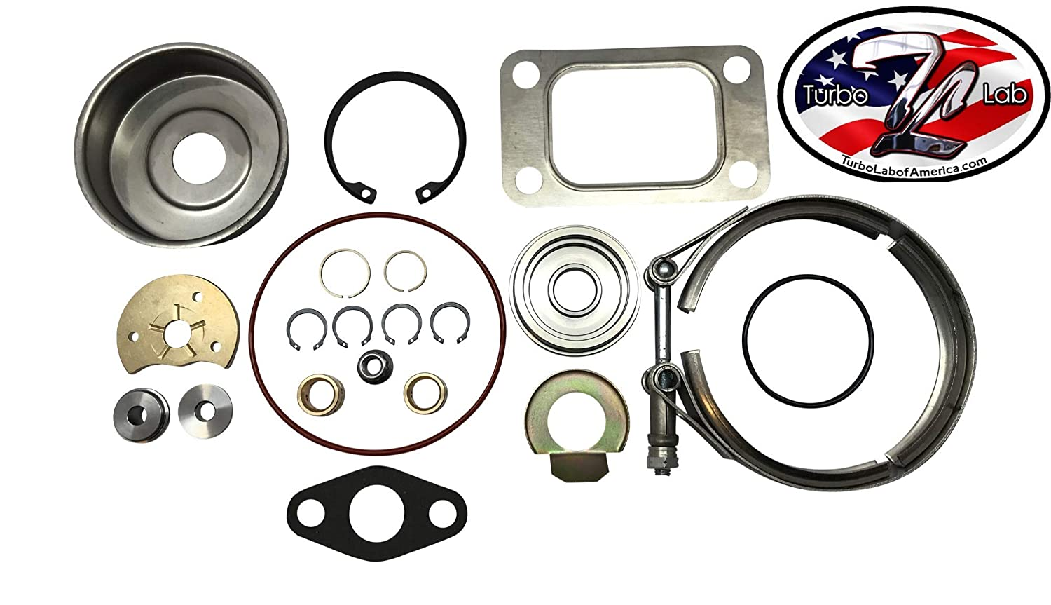 HE341 HE351CW HY35 Turbo Rebuild Kit+Vband Clamp 4031484 Turbo Lab of America