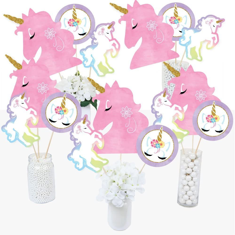 Unicorn Centerpiece Sticks