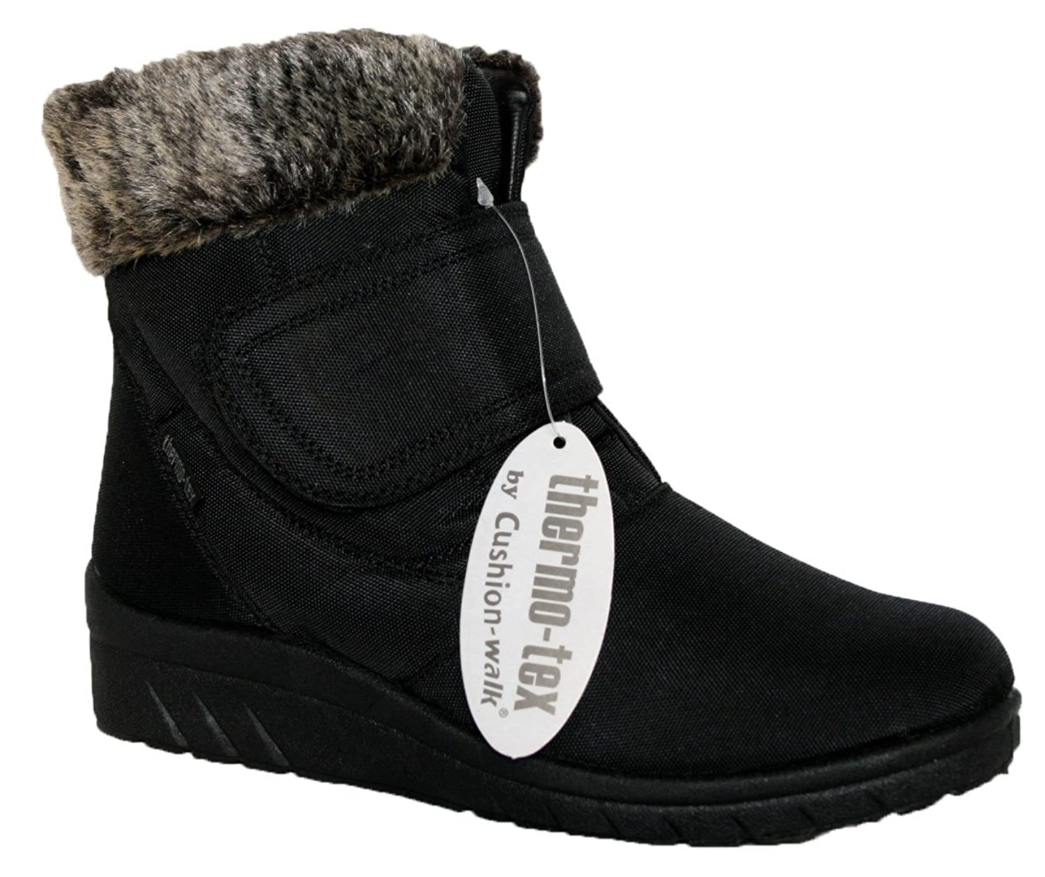 cushion walk thermo tex womens comfort fit winter boots cw81