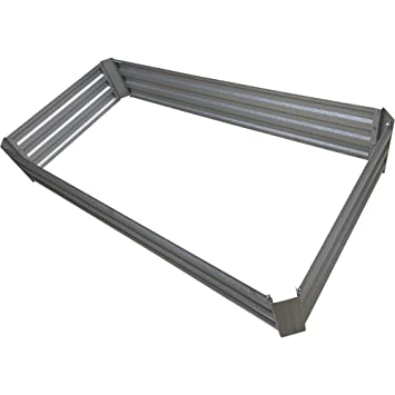 Amazoncom Galvanized Steel Raised Garden Bed Patio Lawn Garden