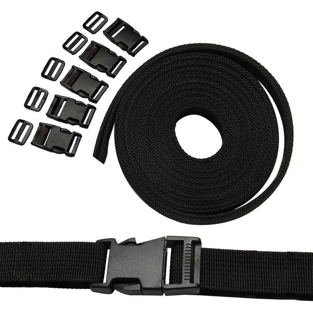 Ailisi 1.5 Inside Width Plastic Flat Side Release Buckles for Backpack Straps Webbing Pack of 4
