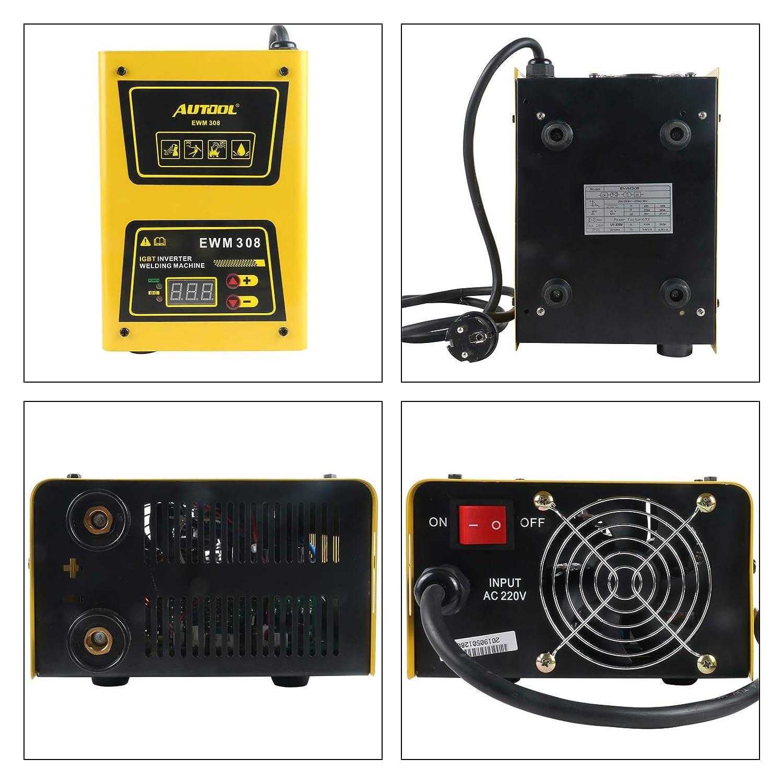 BELEY AUTOOL EWM-308 Portable ARC Inverter Welder AC 220V Mini Electric Stick Welder 20-140Amp IGBT Welding Machine Kit