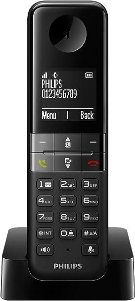 Philips D4501B - Teléfono Inalámbrico Dect (Manos Libres, Pantalla 4.6 cm), Negro: Amazon.es: Electrónica