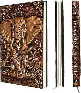 BSTKEY Agenda Diario Cuaderno Libreta Retro A5 de Piel