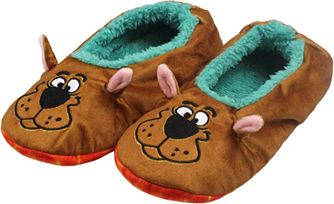 Amazon Com Scooby Doo Slippers With Tie Dye Mystery Machine No Slip Sole Slipper Socks For Women Men L Xl Clothing
