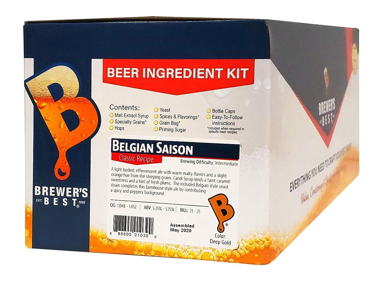 Brewer's Best - Home Brew Beer Ingredient Kit (5 Gallon), (Belgian Saison)
