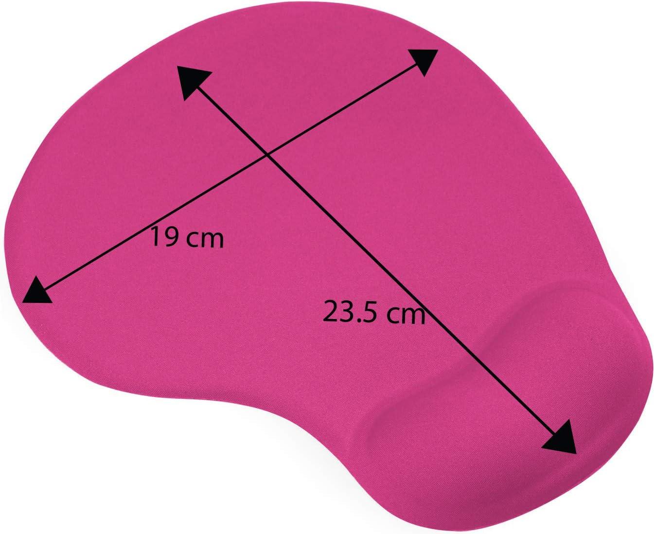 TRIXES Tapis de Souris Rose Vif avec Repose-Poignet Confortable /à Gel pour PC et Ordinateur Portable