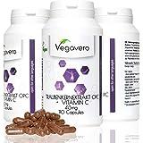 OPC Estratto di Semi D'Uva Vegavero | Arricchito da Vitamina C | Titolato al 95% di Proantocianidine Oligomeriche | Integratore Antiossidante – Immediatamente Biodisponibile | Completamente Naturale e Vegetale