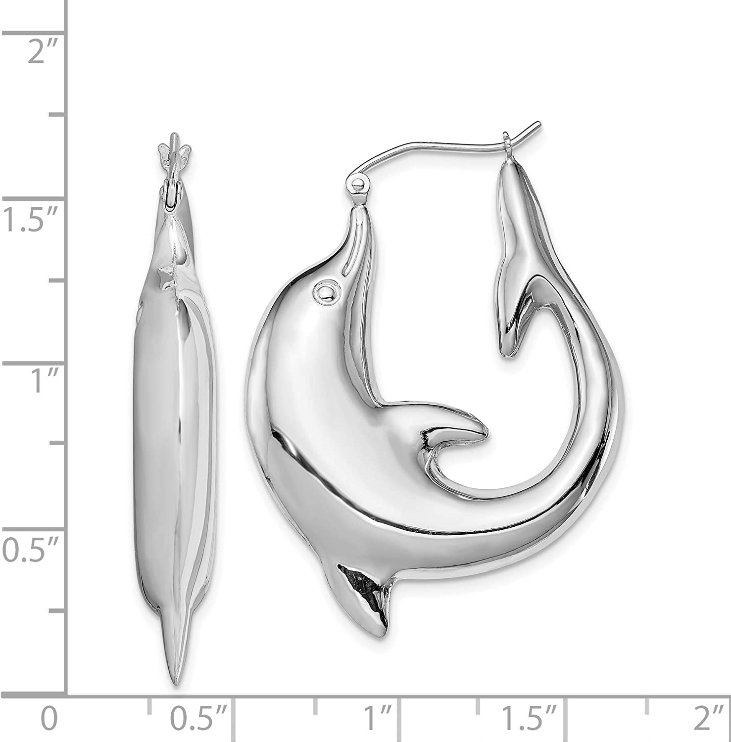 EAR CUFF UNISEX STERLING SILVER DOLPHIN DESIGN FREE GIFT BOX