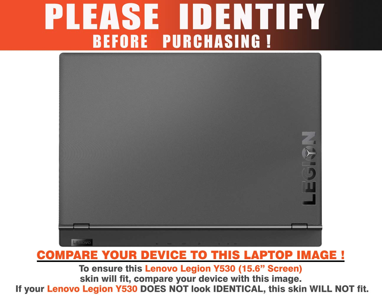 decalrus - Protective Decal Wood Burl Skin Sticker for Lenovo Legion Y530 (15.6'' Screen) case Cover wrap LElegionY530-153 by decalrus (Image #2)