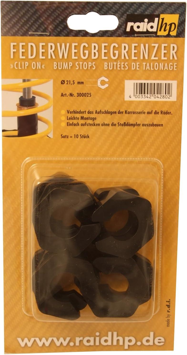 Raid Hp 300025 Federwegbegrenzer Clip On 21mm Durchmesser Verhindern Das Aufschlagen Der Karrosserie Auf Die Räder Auto