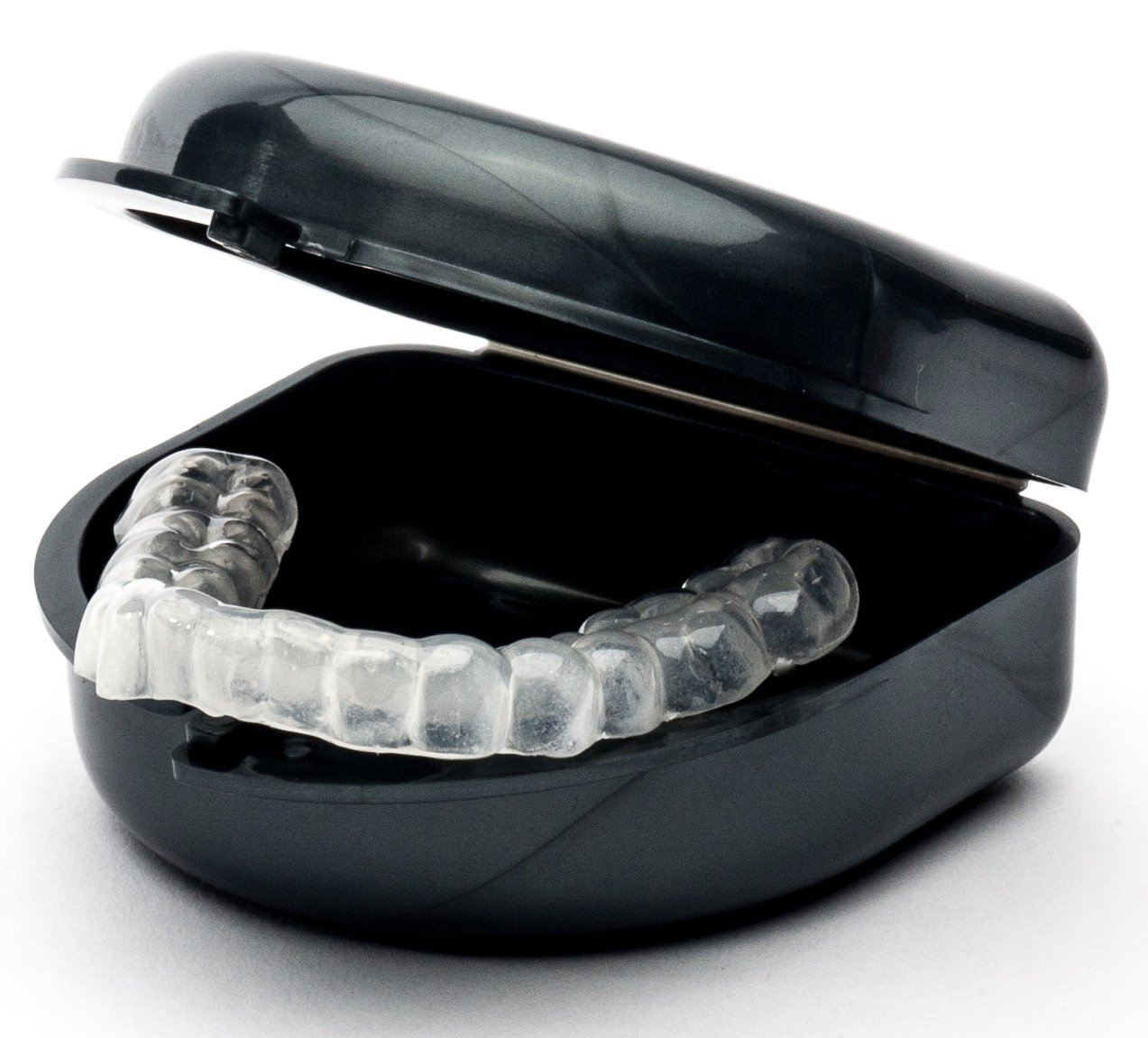 Sentinel Night Guard 2mm Dual Laminated Hybrid (soft inside & hard outside) for Upper Teeth Semi-Flexible Dental Teeth Protector Anti-Grinding (Upper Teeth)
