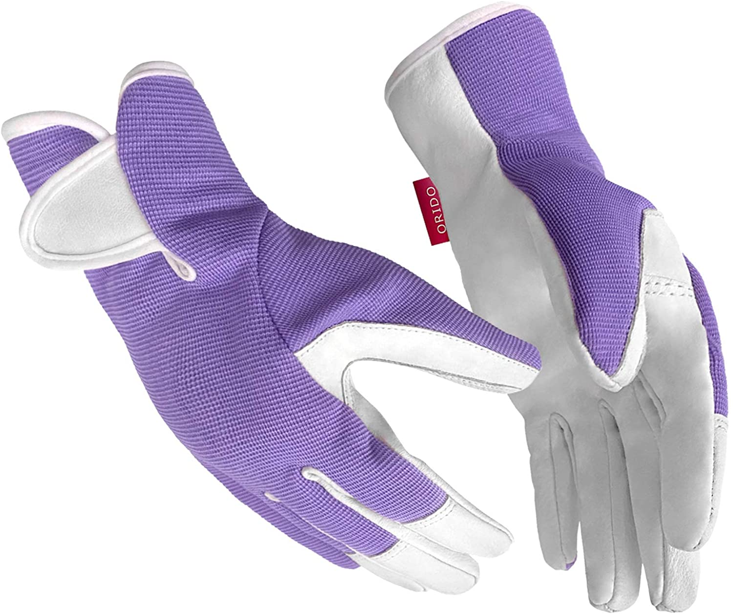 Gardening Gloves for Women - Leather Working Gloves for Womens Work Glove for Yard Gardening Weeding Digging and Pruning