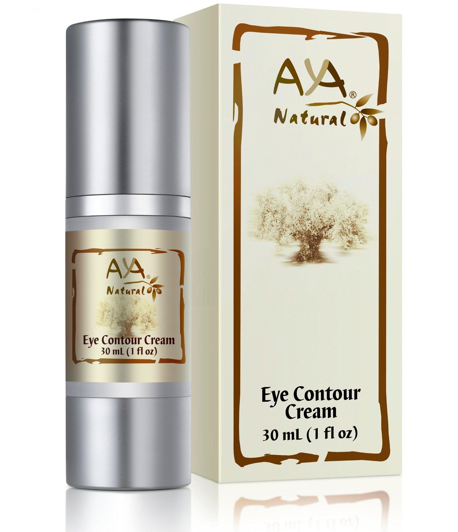 100% Natural Eye Cream for Dark Circles - Premium Vegan Contour Undereye Creme - Shea, Jojoba, Olive, Almond, Rosemary and Avocado Oils Blend