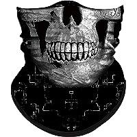Obacle Skull Face Mask Half Sun Dust Protection, Vivid 3D Tube Mask Seamless, Durable Face Mask Bandana Skeleton Face Shield Motorcycle Fishing Hunting Cycling Festival Many Patterns